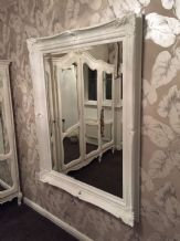 Huge French White Decorative Ornate Mirror - Other Frame Colours Available